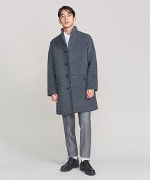 BY 雙層墨爾登標準領大衣