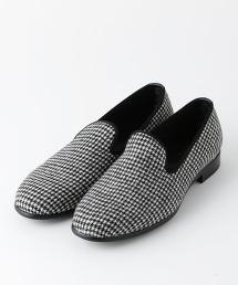 UDET 絲絨格紋懶人鞋