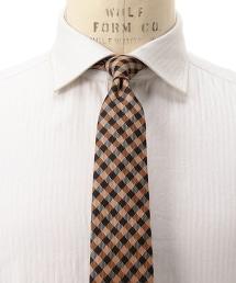 UA ITY 斜紋布格紋領帶