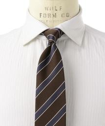<ERRICO FORMICOLA> HZNTL ST英式斜條紋領帶