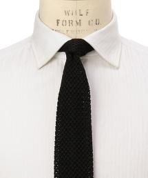 FIORIO SQUAR SLD KNT 素面針織領帶