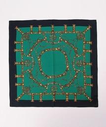 USET 鏈條圖案棉質方巾