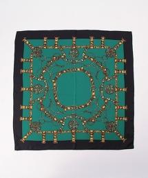 USET 鏈條圖案絲質方巾