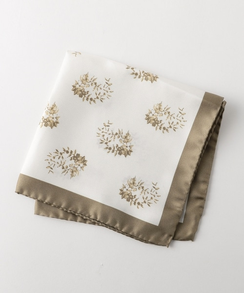 <Nicky> PRNT FLW CHF 花朵印花口袋巾