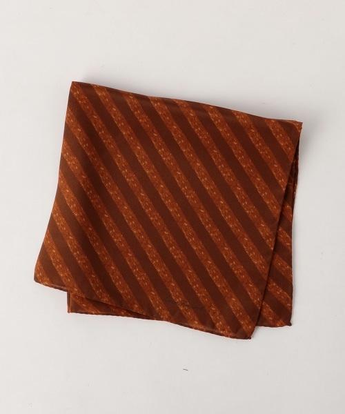 <ERRICO FORMICOLA> PRNT ST CHF1 條紋印花口袋巾