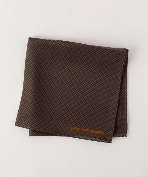 <ERRICO FORMICOLA> PRNT H/T CHF 千鳥格口袋巾