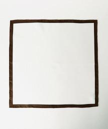 UDBS 素色滾邊絲質口袋巾