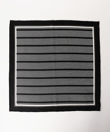 UDBS 條紋絲質口袋巾