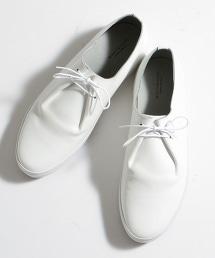 BY 雙釦眼皮革懶人鞋