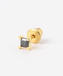 BY 方形氧化鋯針式耳環