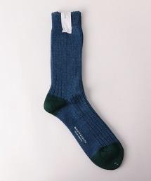 BY 雙色中長筒襪