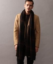BY ∴ 漸層格紋喀什米爾羊毛披肩圍巾
