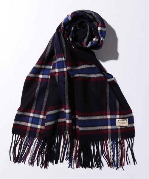 BY 蘇格蘭格紋喀什米爾羊毛披肩