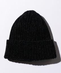 BY 雪尼爾絲線羅紋針織帽