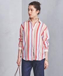○UBCB 亞麻標準領條襯衫