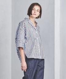 <TICCA> 彩色條紋6分袖襯衫