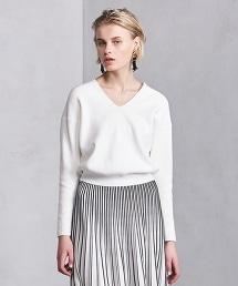 UWCB 羅紋棉質V領針織上衣