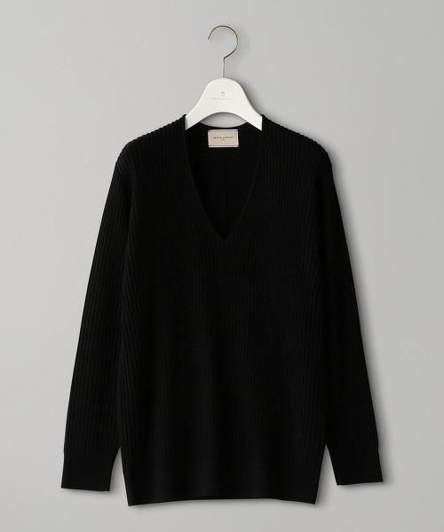 UBCB 羅紋拼接 V領針織上衣