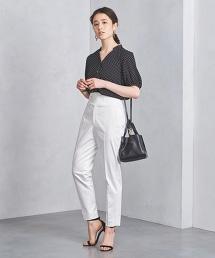 UBCB 腰帶暗釦長褲 WHITE