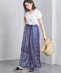 UWSC 蠟染(Batik)花朵寬褲