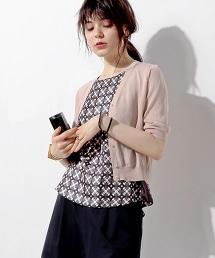 ○UBBT HT-CO V領短版對襟毛衣