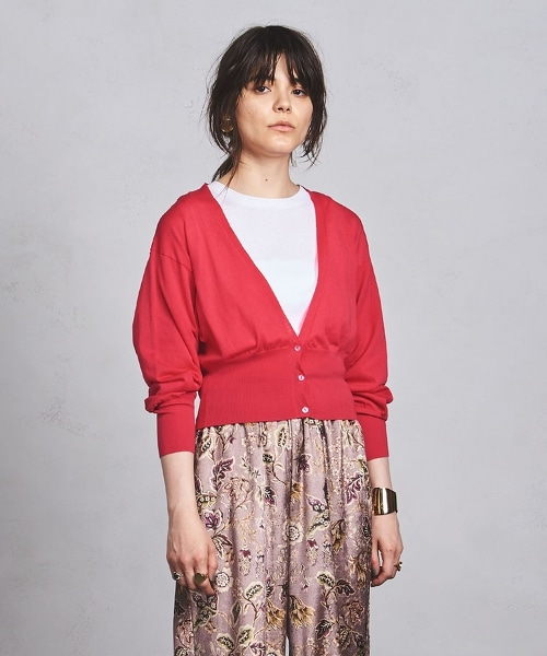 UWMF 羅紋燈籠袖針織開襟衫
