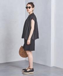 □UWSC 苧麻寬鬆短袖上衣