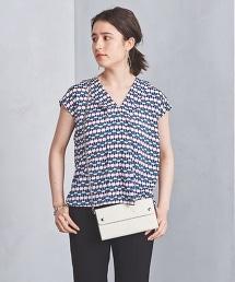 ○UBCS 抽象幾何法式袖罩衫