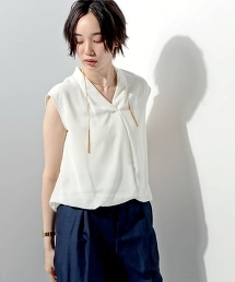 ○UBCE CFN-COMBI 打褶V領上衣