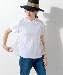 <Clu> 後身荷葉飾邊圓領 T恤