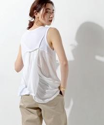 <Clu> BACK DRP CN NL無袖T恤