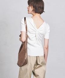 UWCS 背面扭結 短袖針織上衣