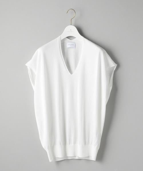 ○UWSC 後背V領短袖針織上衣2