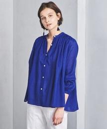 □UWSC 苧蔴 寬袖 皺褶襯衫2†