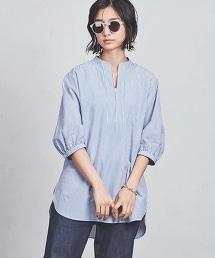 UWSC 棉質條紋長版襯衫