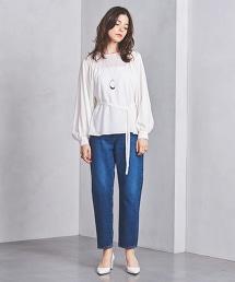 □UWSC 綁帶蓬鬆袖套衫