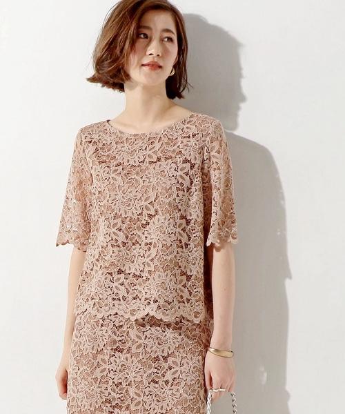 ○UBCE 花樣蕾絲襯衫
