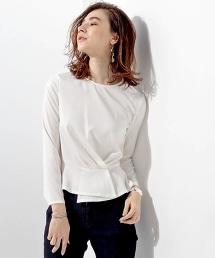 UBCE 打褶飾邊衣襬上衣◆