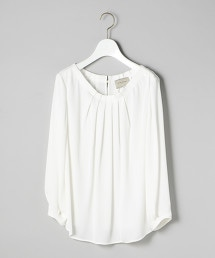UBCS 打摺 弧形領 罩衫