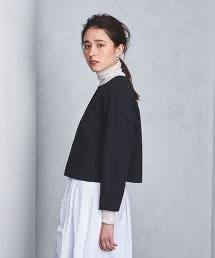 ◇UBCB 雙層織物無領短版外套