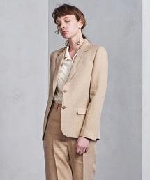 UGCB 亞麻單排雙釦西裝外套