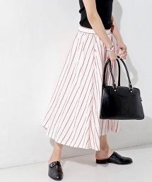□UWBT LINEN 亞麻布荷葉裙