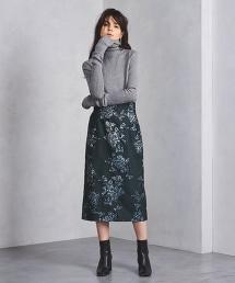 UWFM 大朵花長版窄裙