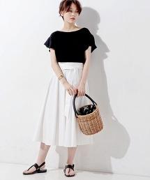 ○UWCE 腰帶圓形長裙