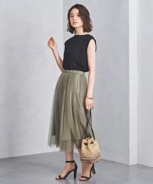 UBCS 網紗荷葉褶裙