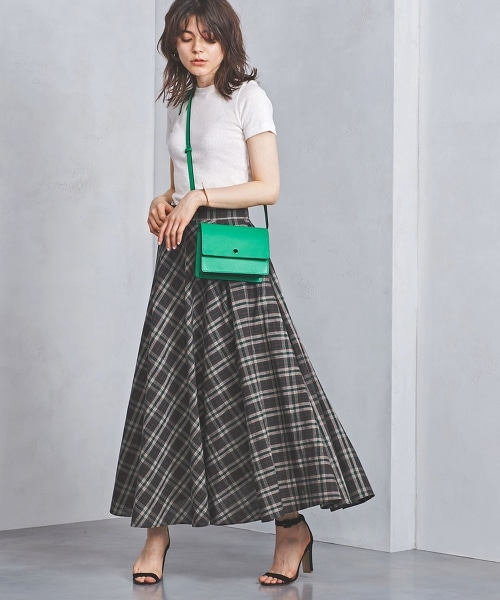 UWSC 馬德拉斯格紋 荷葉裙†