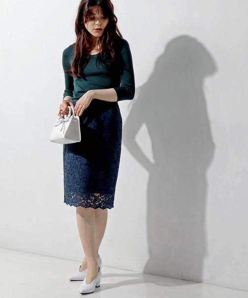 ○UBCE 全蕾絲窄裙 17FW