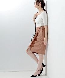 □UBCE 腰帶款裹裙
