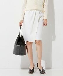 □UBCE 金絲線薩克森羊毛褶皺短裙