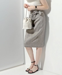 UBCE 高腰蝴蝶結窄裙